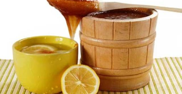 вода с лимоном и мёдом
