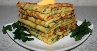 сырные блины с петрушкой