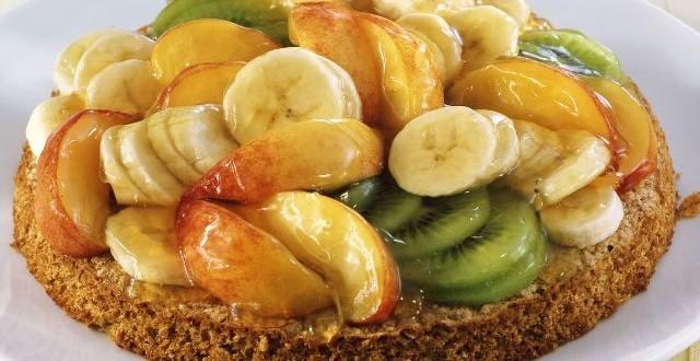 пирог овсяный с фруктами