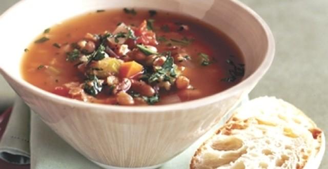 суп с фасолью по гречески