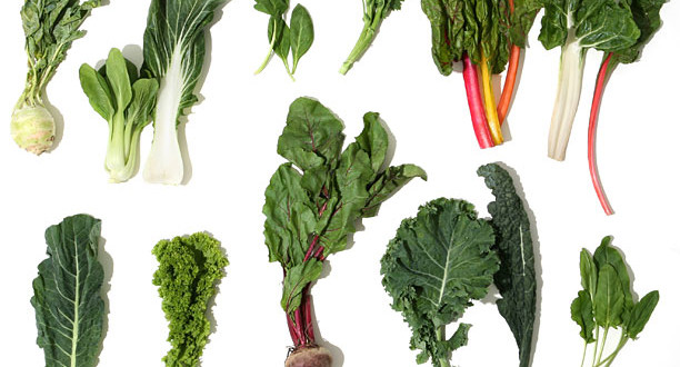 зелёные листовые овощи