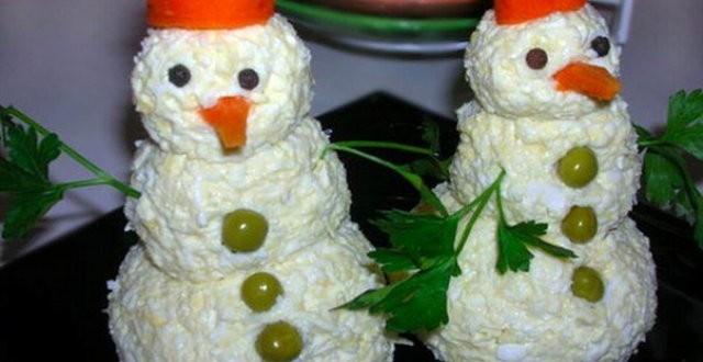 закуска снеговики